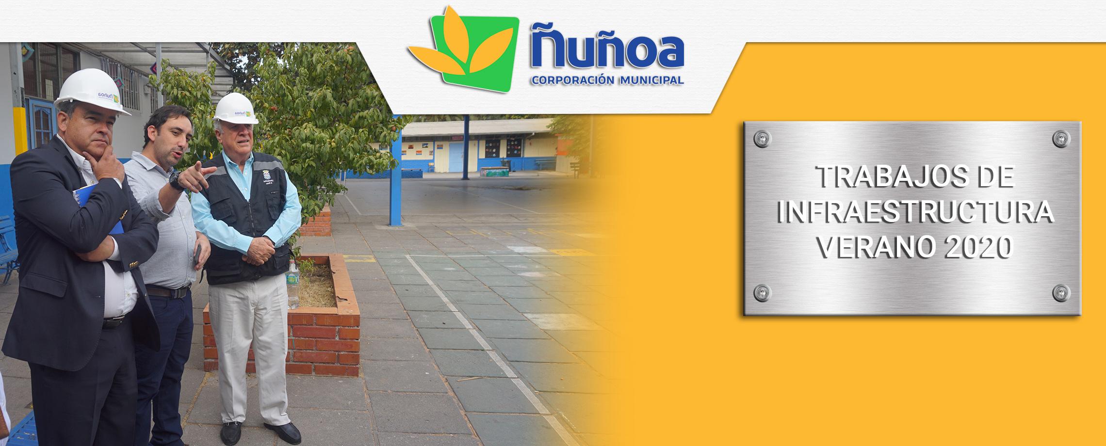 Alcalde Visita Obras de mejoraiento de colegios